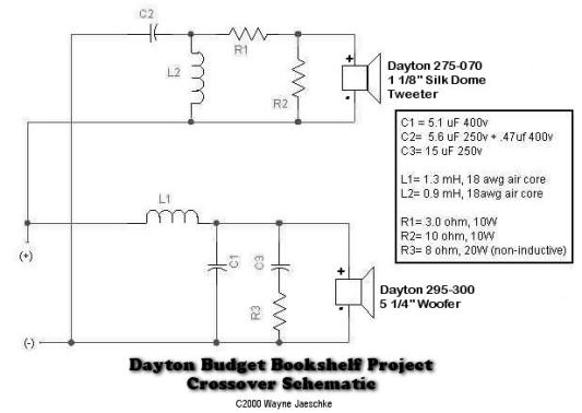 dividing network for speakers schematic diagram    projectgallery.parts-express.com