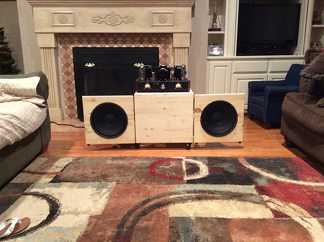 An Open Baffle Stereo Cart System   Parts Express Project Gallery