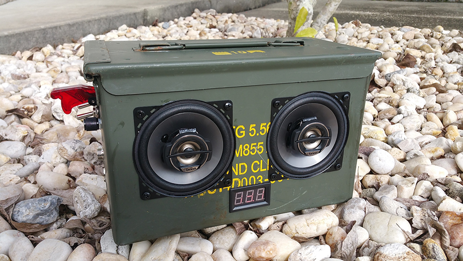 20160103_134456 portable ammo can boombox parts express project gallery Ammo Can Cup Holder at virtualis.co
