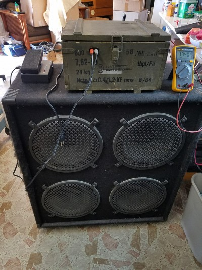 Russian ammo box PA/guitar amp