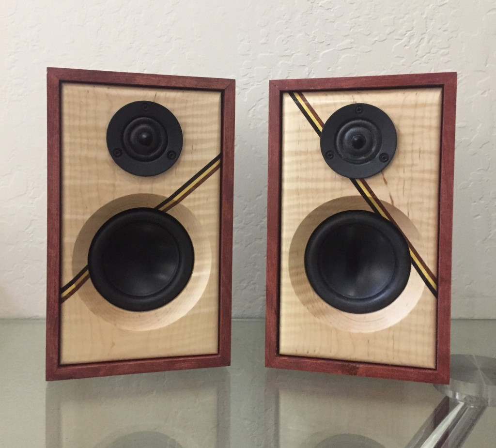 Curly Maple Mini Bookshelf Speakers