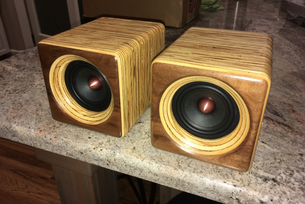 Edge Grain Plywood Computer Speakers