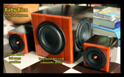 Baby Rico satellite & subwoofer mini system